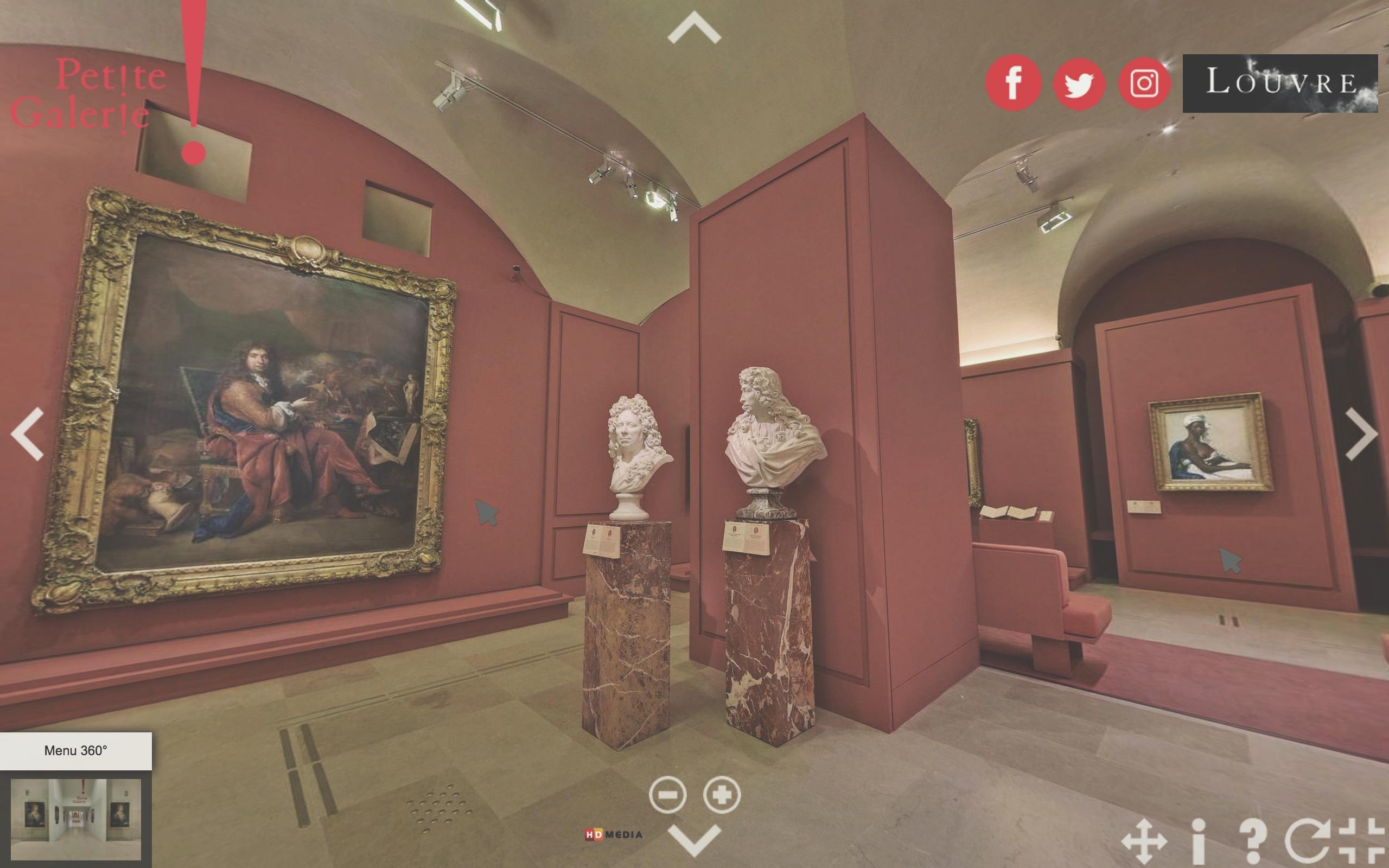 virtual tour louvre museum petite galerie